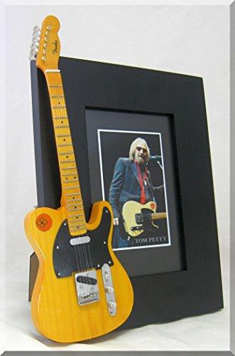 TOM PETTY Miniatur Gitarre Bilderrahmen Hearthbreaker Wildblumen Tele