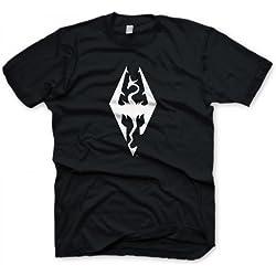 Skyrim T-Shirt Dragon Symbol, Size Xl [Importación Alemana]