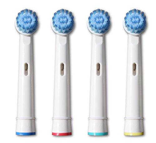 4x Aufsteckbürsten Sensitive, kompatibel zu ORAL-B Sensitive, Ersatz Zahnbürsten, NEU und OVP