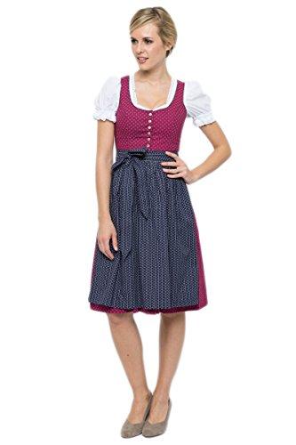Almsach Damen Midi Dirndl Irmi pink/blau D010247 36