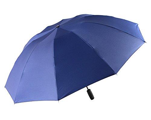 Plegable Paraguas Reverso Doble Capa Resistente Al