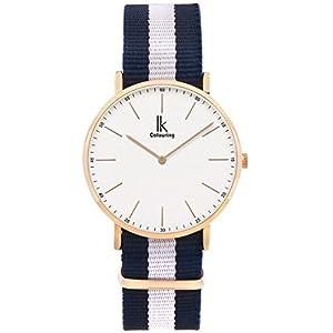 Alienwork IK Uhr für Herren Damen Armbanduhr mit Nylon NATO-Armband Quarz