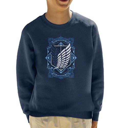Cloud City 7 Attack On Titan Art Deco Kid's Sweatshirt -