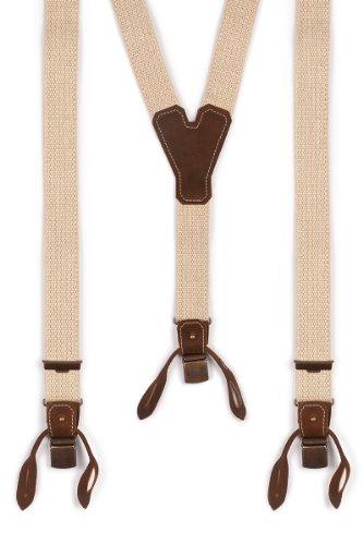 Trachten Hosenträger - BASIC-DUNKEL - natur, Größe 120 cm