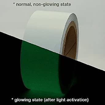 Clickforsign GIDT-003 Glow in The Dark Safety Tape 2 inch x 10 Ft. Night Glow Vinyl