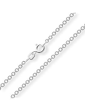 Ankerkette 925 Sterlingsilber Weiss Rund Breite 2,00mm Unisex Silberkette Halskette Collier NEU