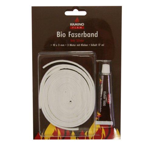 Kamino-Flam 333207 Bio Faserband 10 x 3 mm 3 m mit 17 ml Kleber