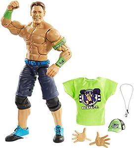 WWE - Elite Figura de acción luchador John Cena con accesorios de lucha Juguetes niños +8 años (Mattel GCL61)