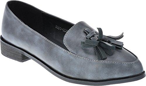 iAnna Stylish Fringe Shoes Grey - EU 37