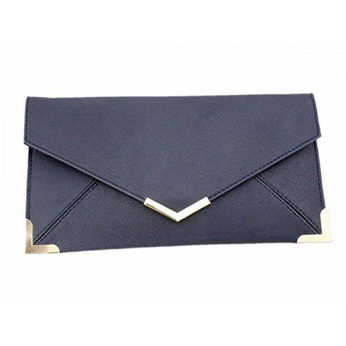 Craze London, Poschette giorno donna Faux- Dark Blue