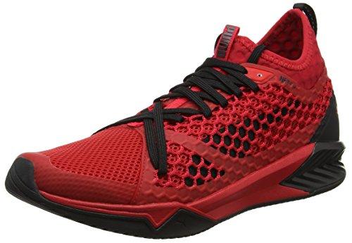 Puma ignite xt netfit, scarpe sportive indoor uomo, rosso (toreador-black), 43 eu