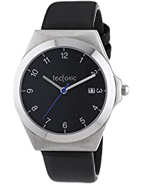 Tectonic 41-6103-44 - Reloj de cuarzo unisex, color negro