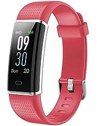 Willful Fitness Armband mit Pulsmesser,Wasserdicht IP68 Fitness Tracker Farbbildschirm Fitness Uhr Aktivitätstracker Schrittzähler Uhr Smartwatch Damen Herren Anruf SMS Beachten für iOS Android Handy