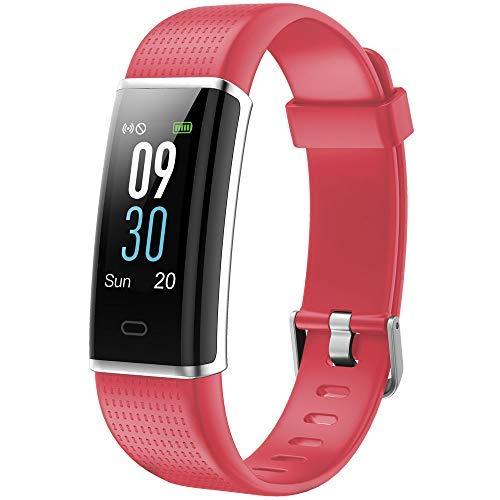 Willful Fitness Armband mit Pulsmesser,Wasserdicht IP68 Fitness Tracker Farbbildschirm Aktivitätstracker Schrittzähler Uhr mit 14 Trainingsmodi Vibrationsalarm Anruf SMS Beachten mit iOS Android Handy