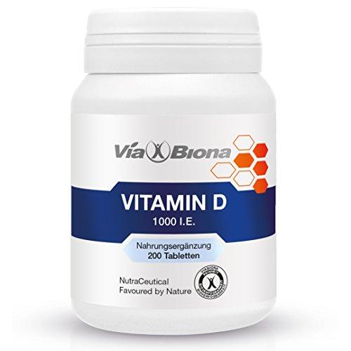 Vitamin D 1.000 I.E., 200 HighResorp-Tablets, maximal bioverfügbares D3-Cholecalciferol