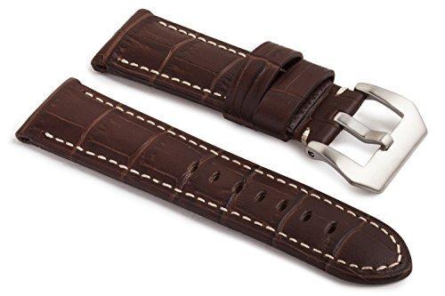 watchassassin-alligator-grain-leather-watch-strap-dark-brown-20mm