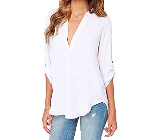 F&Q Real Damen Bluse Gr. X-Large, Weiß - Weiß (Juicy Thong)