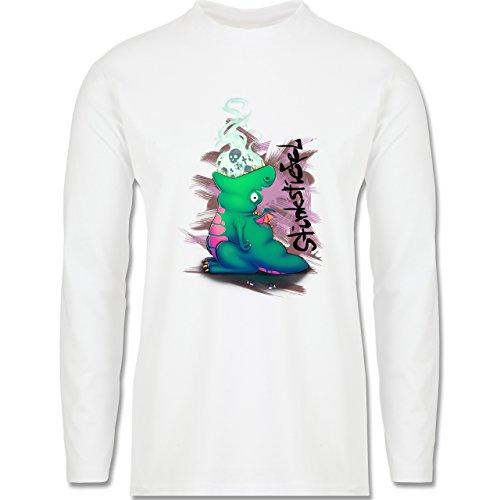 Statement Shirts - Stinkstiefel - Longsleeve / langärmeliges T-Shirt für Herren Weiß
