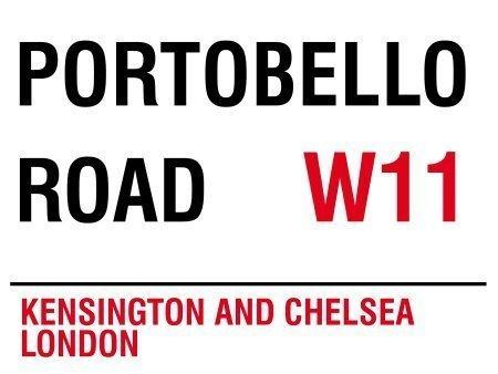 Portobello Road W11London Street Sign-Steel, 20x 15cms