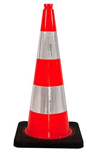 UVV-SHOP Verkehrsleitkegel, Leitkegel, 75 cm Orange 2 Reflexstreifen, Typ RA2B reflektierender Kegel