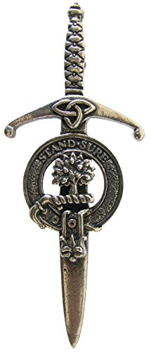 Scottish Clan Crest Pewter Kilt Pins - Choice of 50 Clans. Robust construction and Premium Quality. Made in Glasgow.