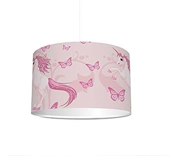 kinderzimmer lampenschirm einhorn kl06 f r kinderzimmer als steh oder h ngeleuchte. Black Bedroom Furniture Sets. Home Design Ideas