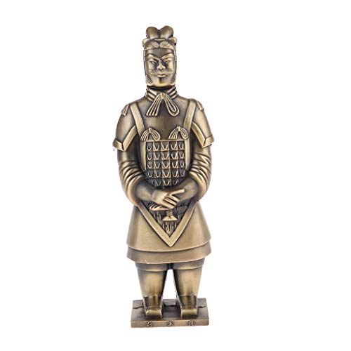 IPOTCH 22cm Metal Chino Terracota Guerreros De Terracota Estatuilla De Colección General Bronce