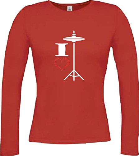 Shirtstown -  Maglia a manica lunga  - Maniche lunghe  - Donna Rosso