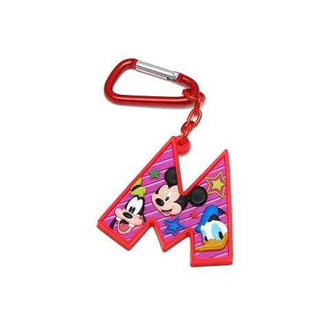 Mickey Mouse and Friends Buchstabe M Laser Cut Rubber Schlüsselanhänger