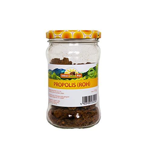 Propolis von ImkerPur, roh, 100g, antibakteriell, rückstandsfrei, direkt vom Bienenstand, Ernte 2019