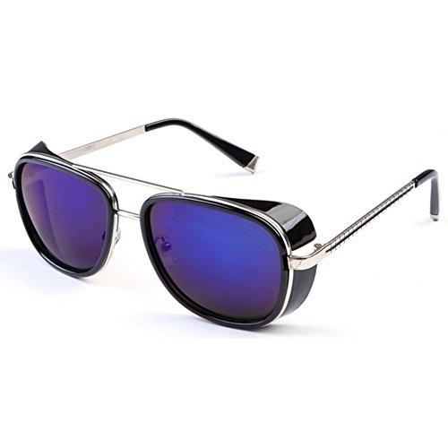 Deylay Steampunk Sonnenbrille Manner Frauen Gespiegelte Brillen Vintage Sonnenbrillen Farbe 6