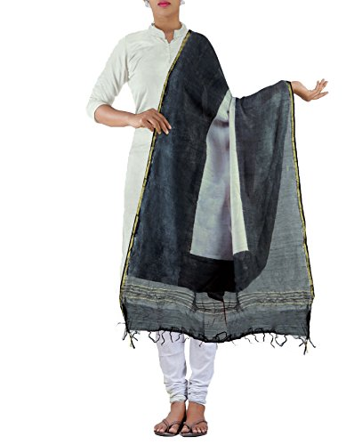 Unnati Silks Women Cream-grey Pure Chanderi Sico Dupatta