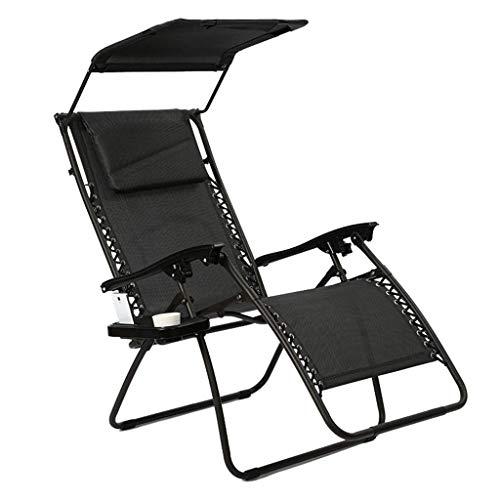 WYX Outdoor-Liegestuhl Schwerelosigkeit Lounge-Sessel Strand Terrasse Pool Yard Klappbare Liege Chaise Lazy Chair Easy Chair -
