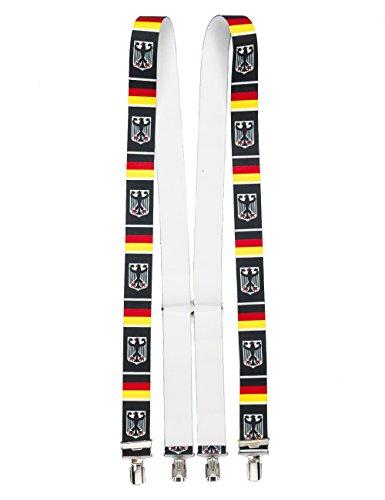Shenky - Bretelles en X - 4 pinces résistantes - fabriquées en Allemagne Aigle de L'Allemagne