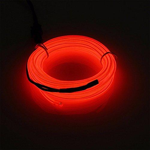Landscape LED Lighting Licht Auto Fahrrad Rade Holiday Autobatterie Beleuchtet Flexibles Streifen Licht-Transparent (red) (Nächte Von Halloween-song)