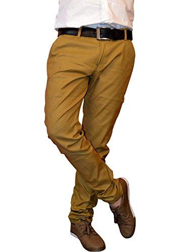Nation Polo Club Men's Slim Fit Solid Linen Blend Khaki...