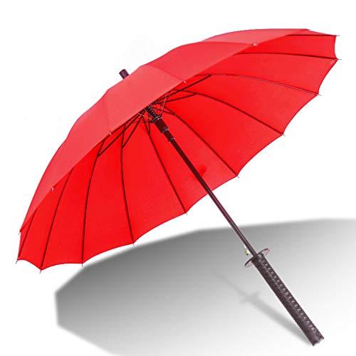 (QIYINGYING Lange Griff Schirm kreativ großen geraden Griff Schwert Schirm-Persönlichkeit Samurai Umbrella)