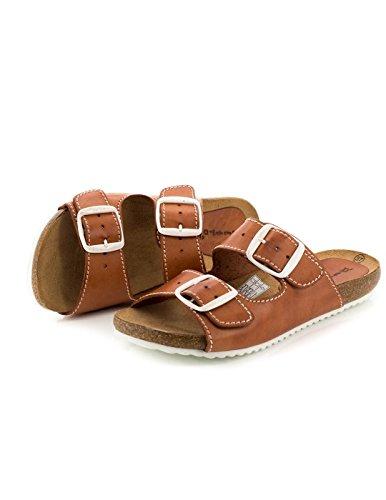 Sandalo Dliro pelle Marr n 11.896 Marrone