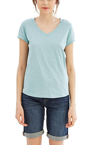 Grüne Damen Light T-shirt (ESPRIT Damen T-Shirt 027EE1K041 Grün (Light Aqua Green 4 393), 38 (Herstellergröße: M))