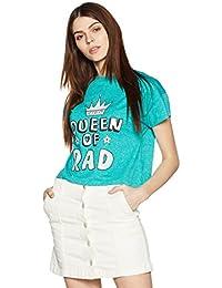 Amazon Brand - Symbol Women's Boxy T-Shirt with 3D Print