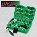 Toptul Chromium Steel Socket Wrench Set (Green, Small)