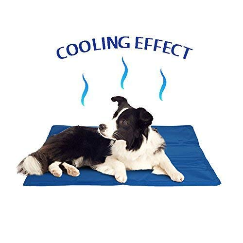 ADEPTNA Self Cooling Gel Pet Dog Cat Cool Mat Pad Bed Mattress Heat Relief Non-Toxic Cooling Technology to Help Your Pets Cool Down in the Summer Heat SIZE 60CM X 44CM
