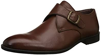 Hush Puppies Men's Vito-Monk Strap Brown Leather Formal Shoes-7 UK/India (41 EU) (8544916070_8544916)