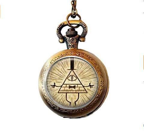 bab Gravity Falls Bill Cipher Taschenuhr Halskette