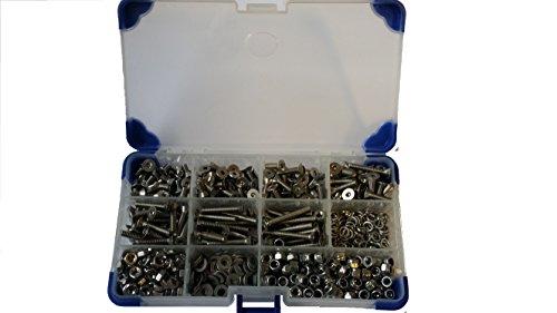 Ahc K-10008-6 mm de acero inoxidable m6 avellanado tornillos de zócalo con...