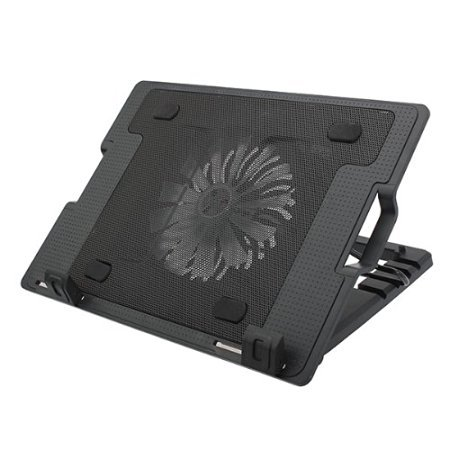 Plutofit® Designer Cooling pad with diff. Angel Stand and Silent Fan.(Color May Vary)