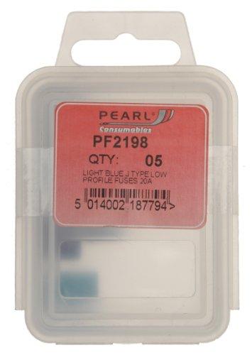 Pearl PF2198 Low Profile-Sicherung, 20 A, Klasse J, 5 Stück, Blau