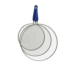 T.I.P. Tip Pfannen Spritzschutzdeckel | 3 TLG. Set | Spritzsieb aus Edelstahl | Ø 20-28 cm | Spülmaschinengeeignet