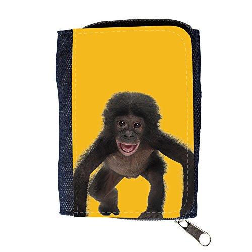 Portemonnaie Geldbörse Brieftasche mit // Q05570602 Baby bonobo Bernstein // Purse Wallet (Herren-geldbörsen Bernstein)