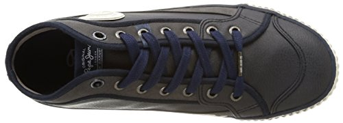 Pepe Jeans London Industry Basic, Baskets mode homme Bleu (585Marine)